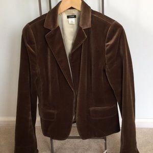 J Crew Brown Velvet Jacket